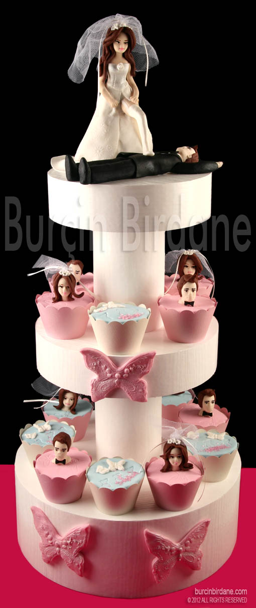 Bekarliga veda cupcake stand