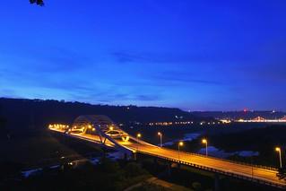 崁津大橋...夕照三部曲2...攝影人必訪美景...Abula老獅秘境