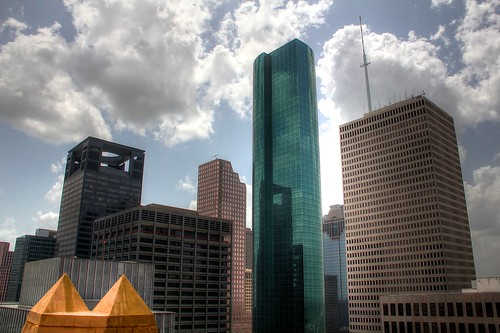 Downtown Houston View from Esperson Roof 2
