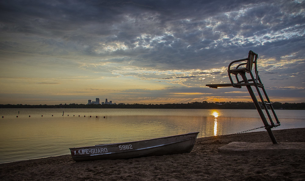 Sunrise on Thomas Beach - Minneapolis, MN