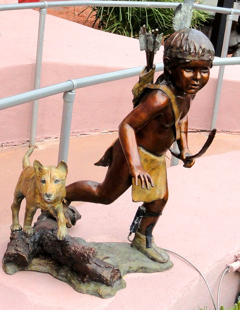 Little Native American Boy Statue