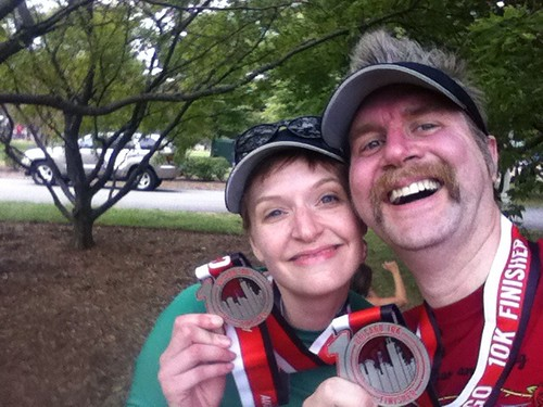 Erica and Fuzzy, Chicago 10K finishers