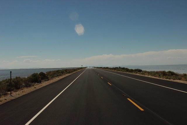 Route pour sortir de l'antelope island