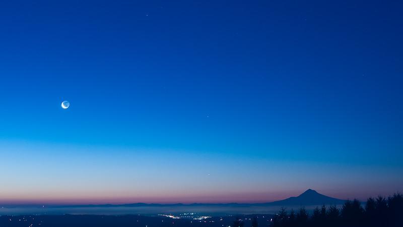 Predawn Moonrise