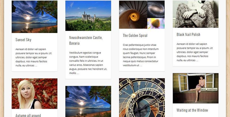 Theme miễn phí theo phong cách Pinterest hỗ trợ HTML5
