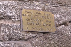 Photo of John Scott Russell brass plaque
