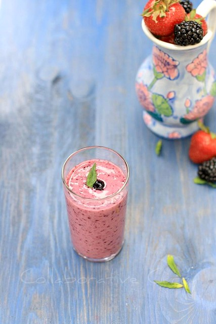 Mixed Berry Lassi With Flax meal
