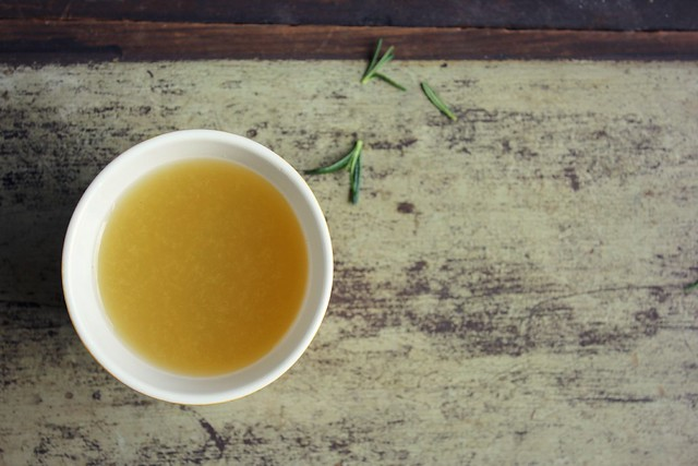 lemon, honey + ginger tea