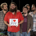 Matthew E. White performs live on 8.20.12 in WFUV's Studio A. Photo by Andrew Arne