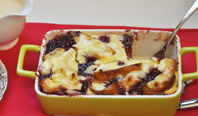 Raspberry and Goat Cheese Strata