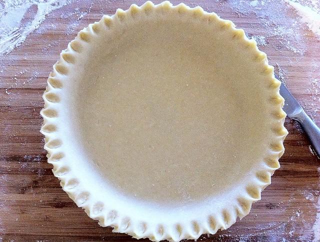 Crimped Pie Crust, Trimmed