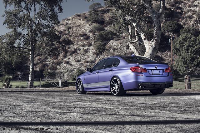 BMW F10 Matte Purple on CW-S5 Done by DBX
