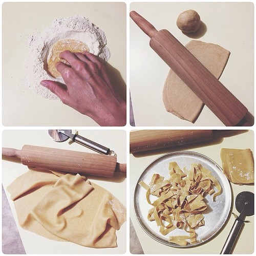 It was a handmade pasta kind of night. (Durum wheat and whole spelt) #realfood #vscocam #vsco #whatsfordinner
