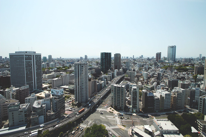 view over tokyo
