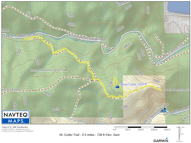 Mt. Cutler Trail Map