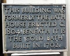 Photo of bath house, Tunbridge Wells grey plaque