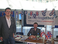 Better Together stall at the University of Stirling, April 2014
