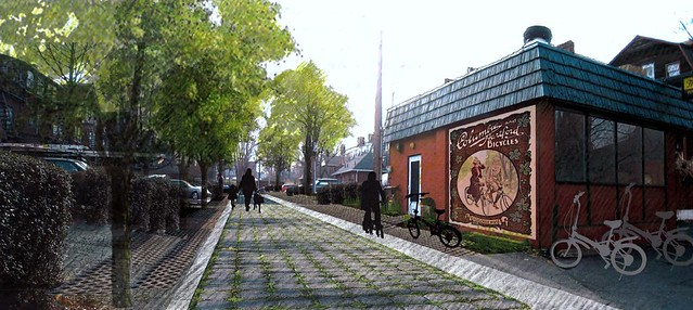 vision for green alley, Hartford, CT (by: Nelson Byrd Woltz for US EPA, Greening America's Capitals, public domain)