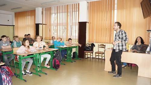 Wizyta wolontariuszy z W�och i Hiszpanii.