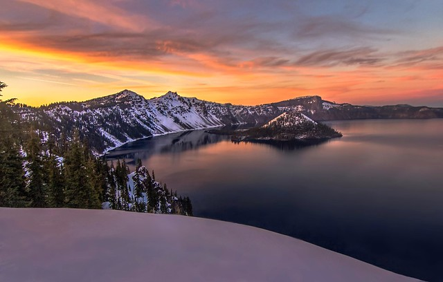Sunset Colors of Crater Lake