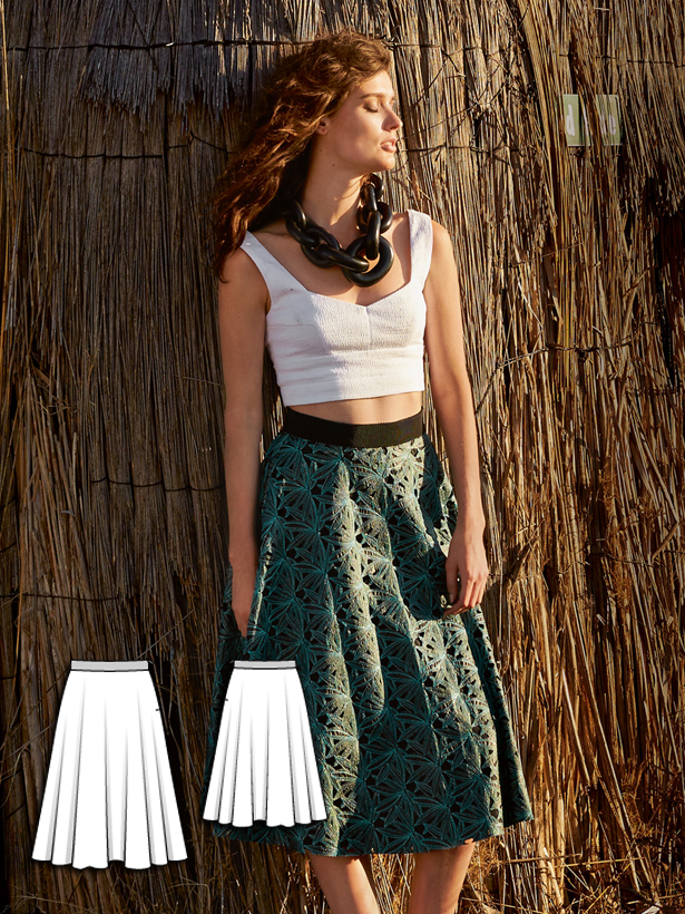 womens skirt sewing pattern 128-062016-B