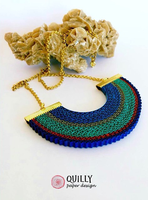 Quilly Paper Design Crimped Paper Necklace