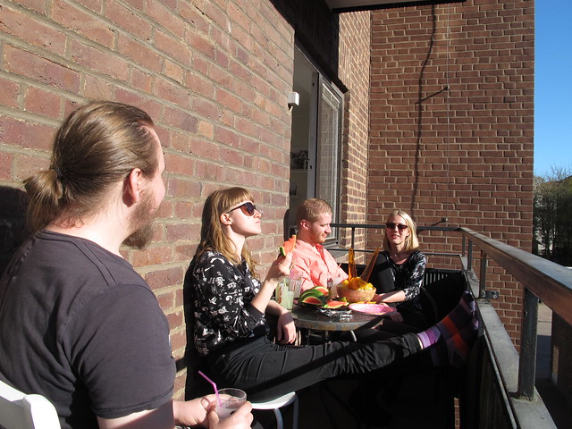 thursday, balcony party, helsingborg