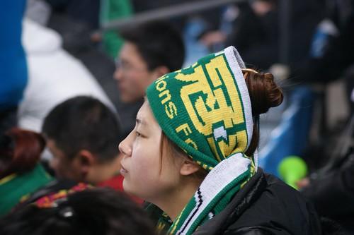 Focus on the game - Beijing Guoan supporter girl