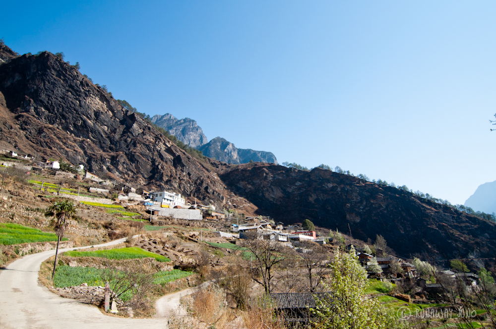 Villages on the mountain hillside