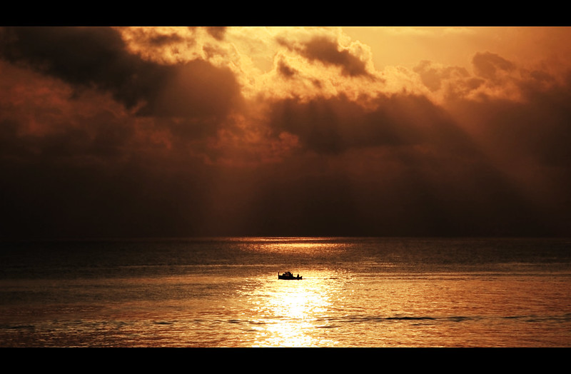 Under the rising sun.