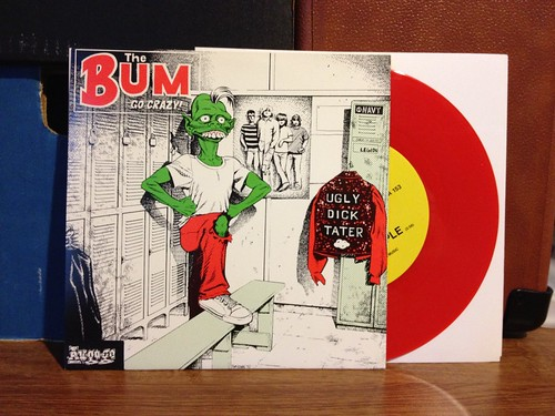 "Bum - The Bum Go Crazy 7"" - Red Vinyl by Tim PopKid"