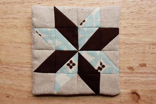 Minitaure Starflower Quilt Block