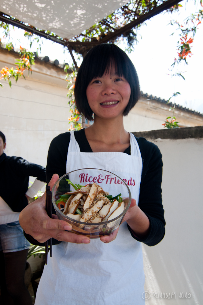 Luxi, teacher at Rice and Friends Cooking School Dali yunnan china