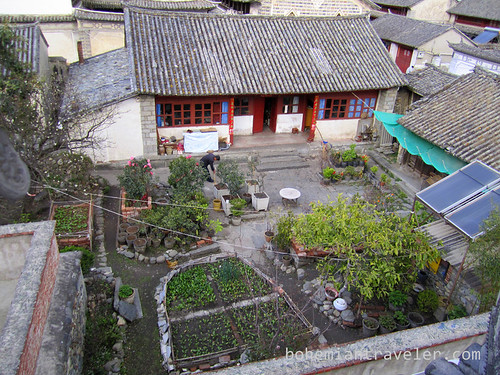 courtyard of house in Dali Yunnan China
