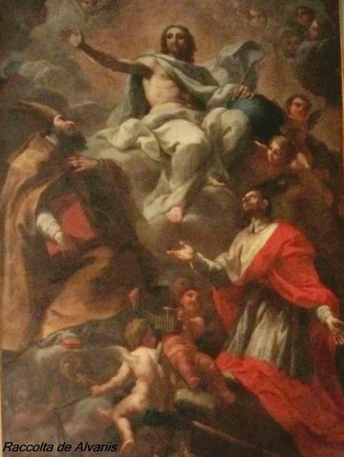 2012 Ss. Ambrogio e Carlo Cappella del Crocifisso, Cristo con i Ss. Ambrogio e Carlo di F. Mazzucchelli 1600 ca