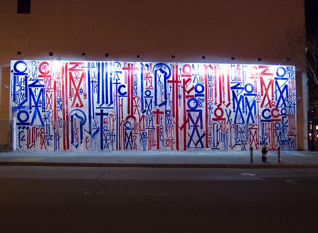 RETNA Mural on the Bowery/Houston Street Wall