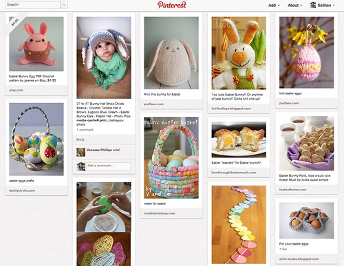 Pinterest Easter Screen Shot