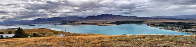 Panoramic view of Lake Tekapo from Mount John