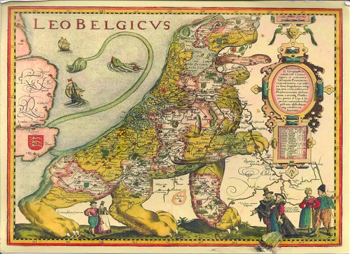 The Sitting Leo Belgicus Low Countries Europe Map