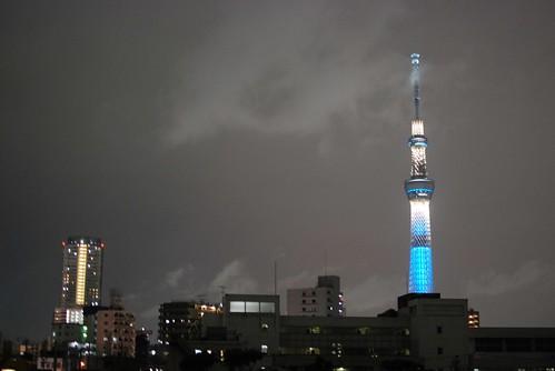 Tokyo Sky Tree Lighting Test