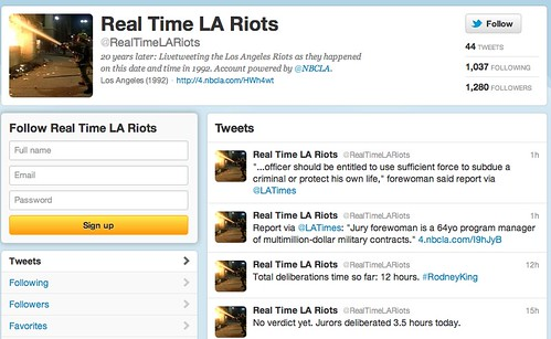 Real Time LA Riots