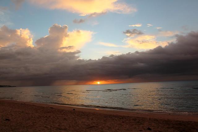 Beautiful setting sun in Masbate