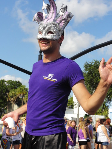 Carnival mask at Saint Pete pride