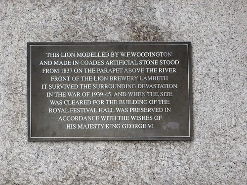 Detail: Coade Stone Lion