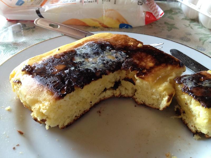 コッヘルで作ったホットケーキ その2