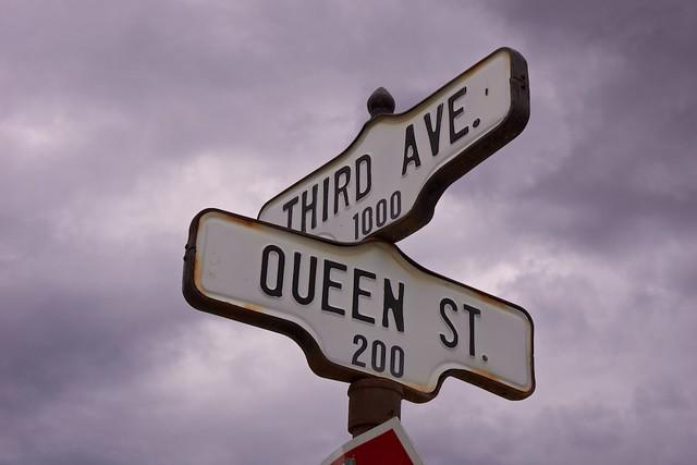 Street sign Dawson
