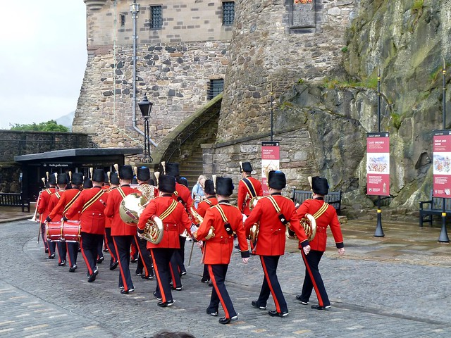 Ceremonial Marching, Edinburgh Castle
