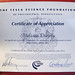 Tesla Science Foundation Certificate of Appreciation! by mormolyke