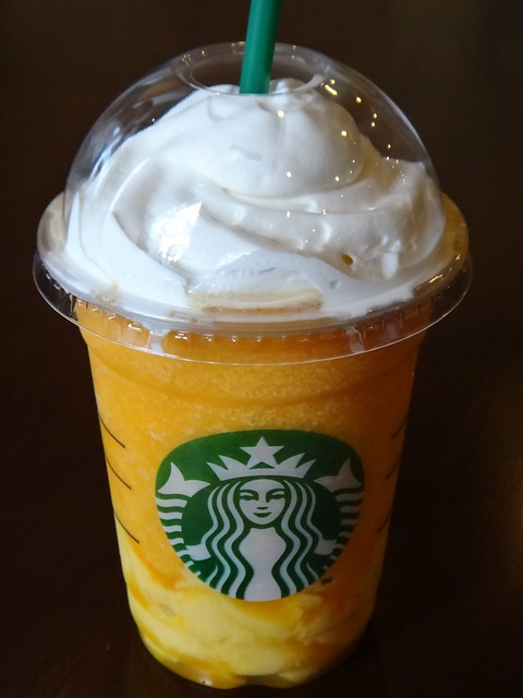 Mango Passion Tea Frappuccino with Mango Pudding