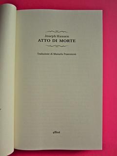 Joseph Hansen, Atto di morte, Elliot 2012. cover design e illustration: IFIX. Frontespizio (part.), 2
